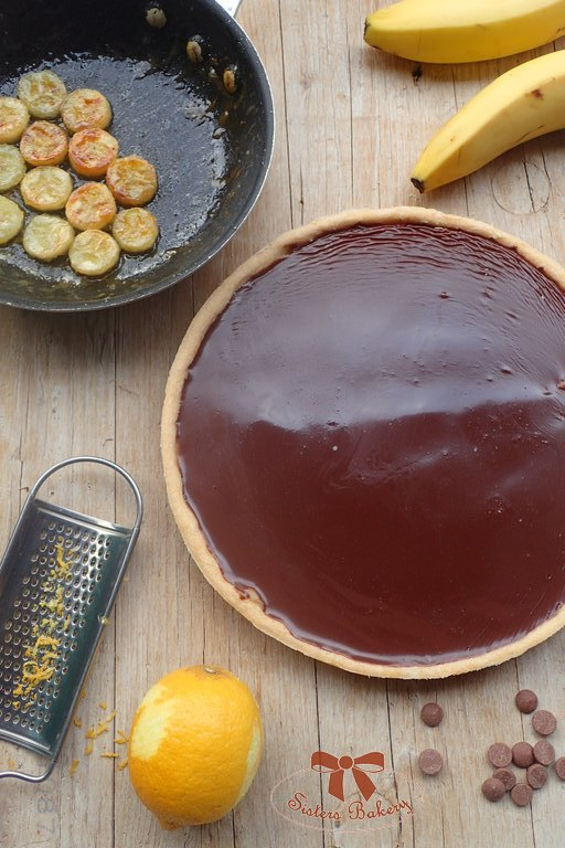 Banánový koláč s čokoládou