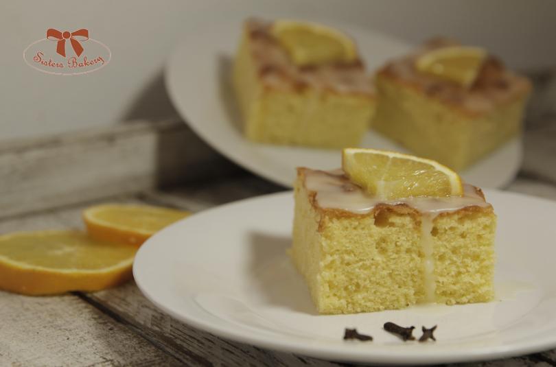 Pomarančový koláč s cukrovou pomarančovou polevou