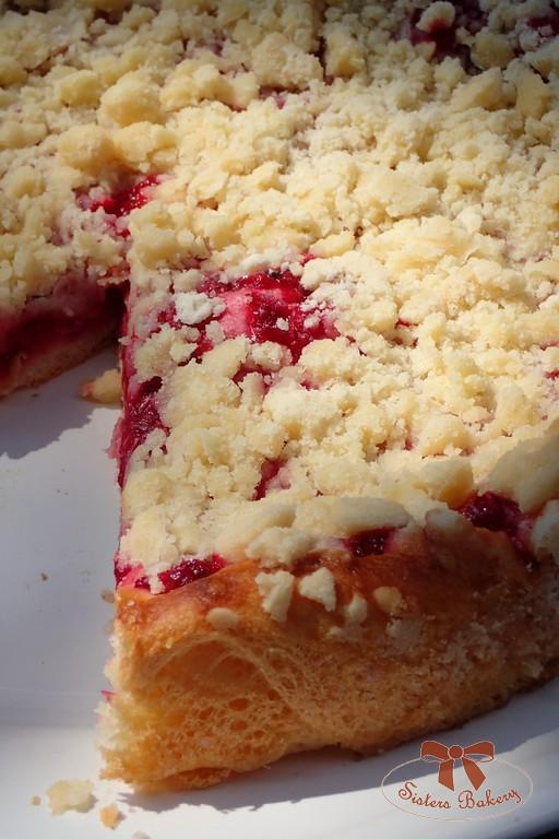 Kysnutý koláč s ríbezľami