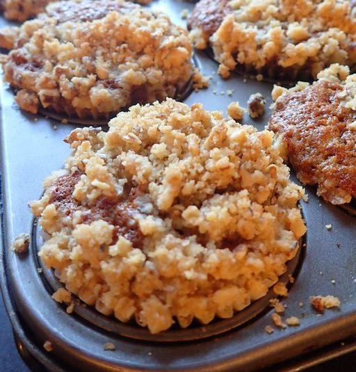 Banánové muffiny s posýpkou z vlašských orechov