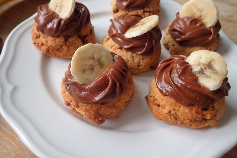 Cookies s banánom a arašídmi