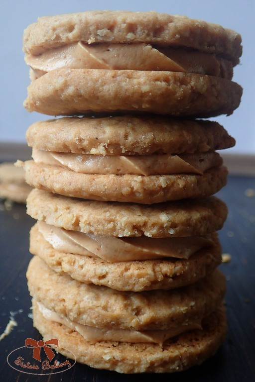 Arašidové sušienky s arašidovou plnkou