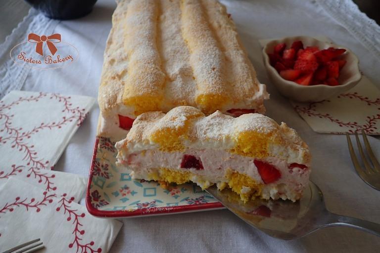 Kardinálove rezy s jahodami a šľahačkou