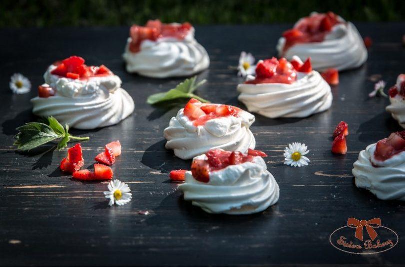 Pavlova – koláčiky z bielok bez múky