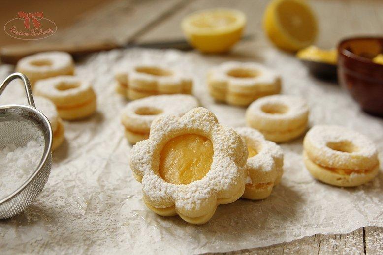 Linecké koláčiky s citrónovou plnkou