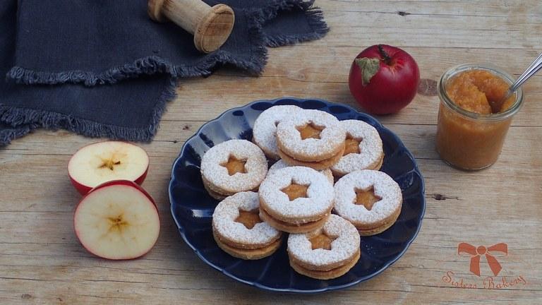 Ovsené koláčiky s jablkovou plnkou