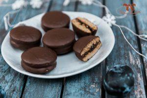 perníkové kolieska s lekvárom a čokoládou