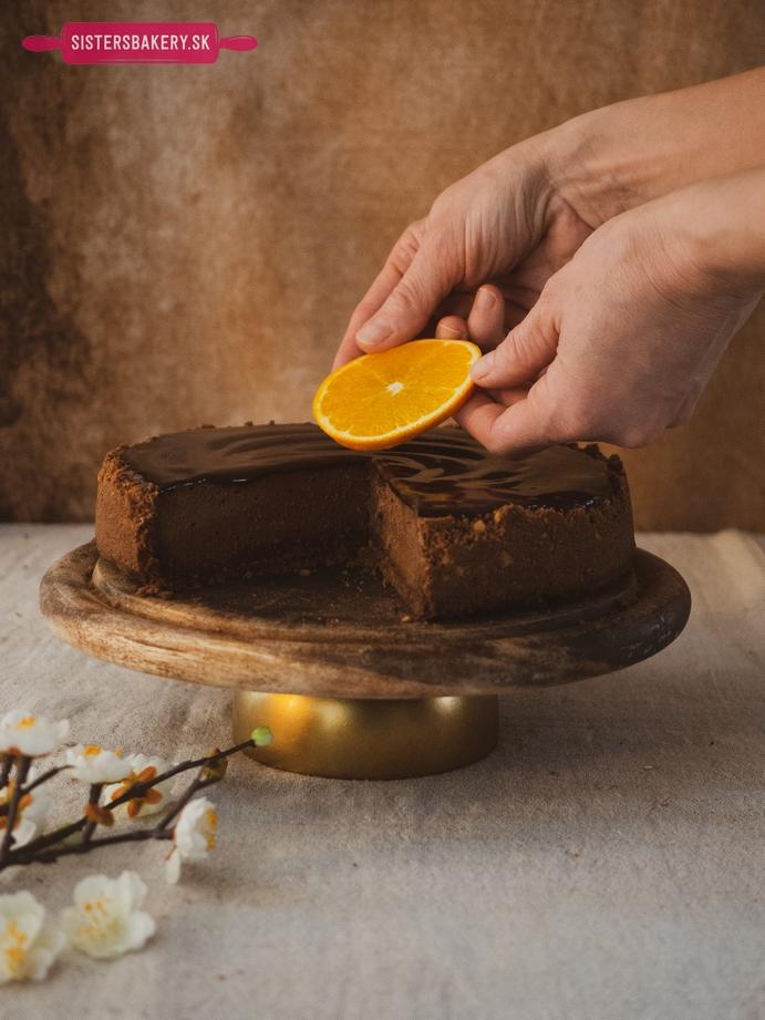 Čokoládový cheesecake s pomarančom