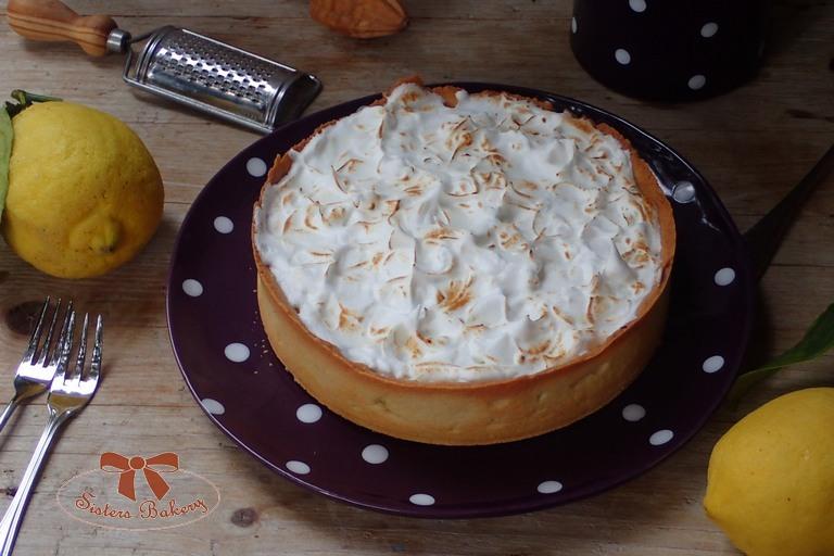 Citrónový koláč s meringue bielkovou penou