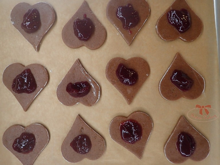 plnené perníky s čokoládou