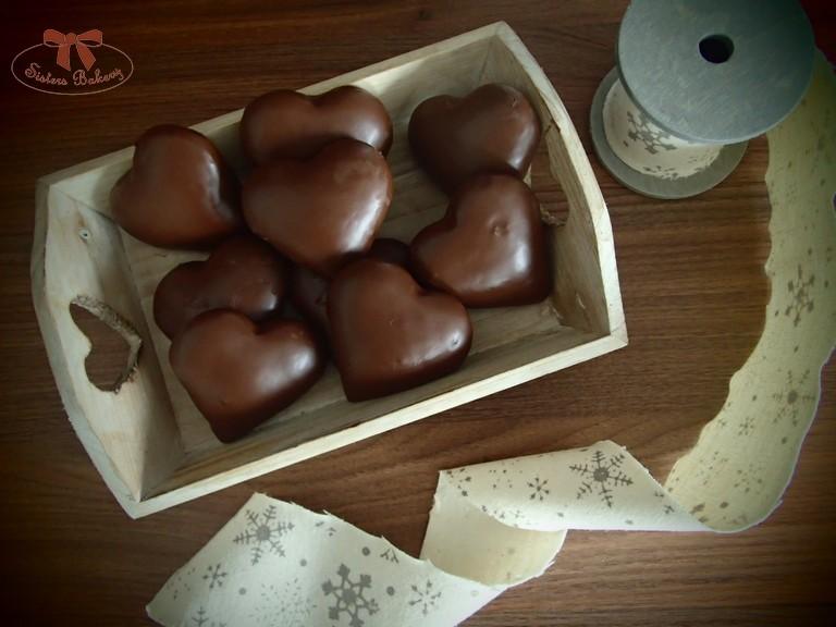 Plnené perníky s lekvárom a čokoládou