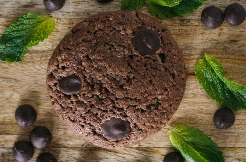 Cookies s čokoládou a mätou