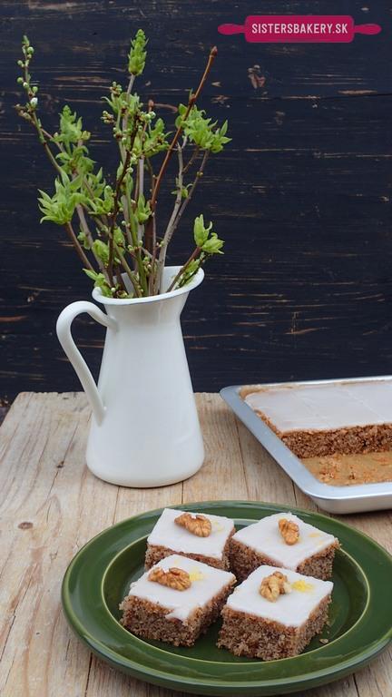 jednoduchý orechový koláč