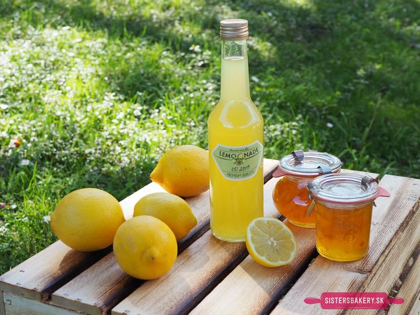 citrónový sirup a lekvár
