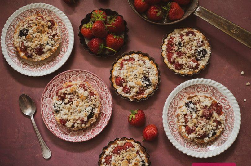 Ovocné koláče z tvarohového cesta