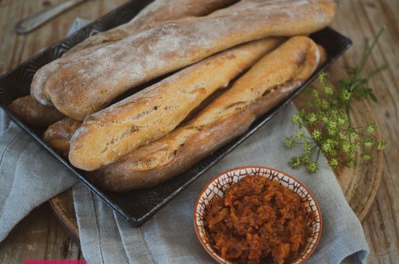 Chlebové tyčinky z kvásku so sušenými rajčinami