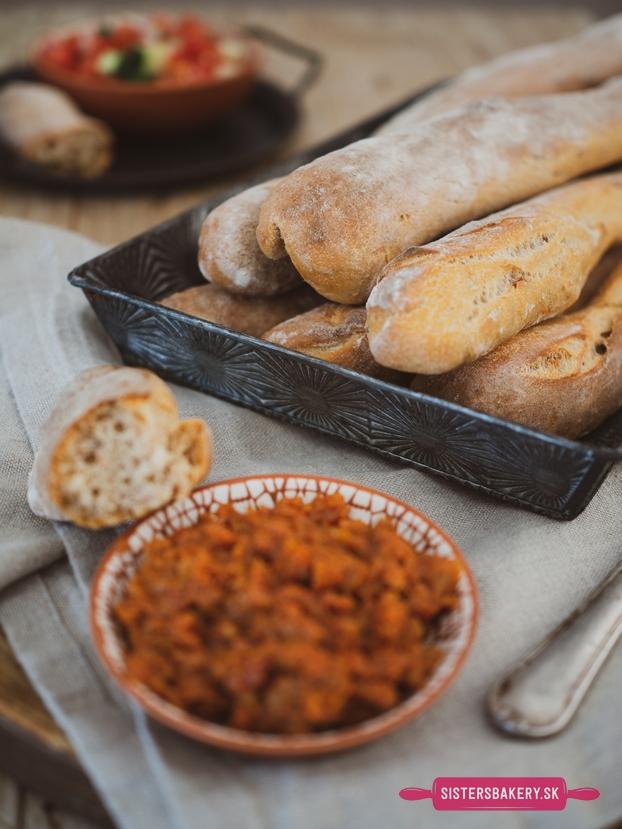 kváskové chlebové tyčinky